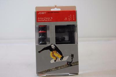 JOBY Action Clamp and Locking Arm for Action Cameras - Black & Red
