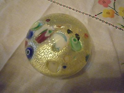Heavy large Vintage 1950's Glass Paperwieght from Murano
