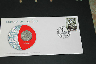 Guatemala Coins Of All Nations 1979 25 Centavos Coin Unc