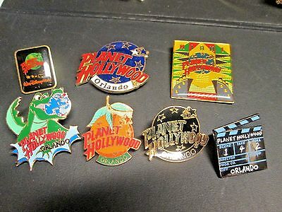 Group of 7 Planet Hollywood Pins from places in Florida