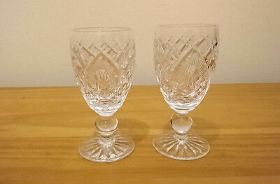 Pair Of Waterford Crystal Sherry Liqueur Glasses