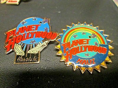 Set of 2 Planet Hollywood Pins from Hawaii, Maui & Honolulu