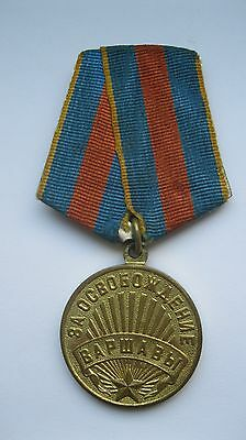 Soviet Medal For the liberation of Warsaw USSR