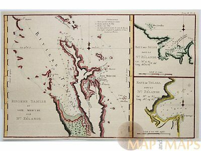 New Zealand Riviere Tamise et Baye Mercure Cook 1774