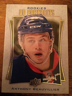2016-17 Upper Deck Series 2 Gold Rookies Anthony Beauvillier UD Portraits 74/99
