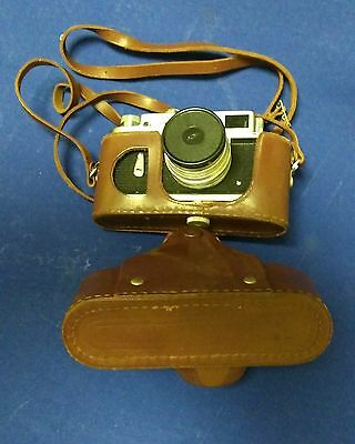 ZORKI ZOPKUU-4 35mm CAMERA 50mm F2 Lens Leather Case Russia Parts/Repair