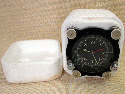 129-ChS Vintage USSR Russian Aircrafts TU-134 MIG-21 HELICOPTER MI-9 PANEL CLOCK