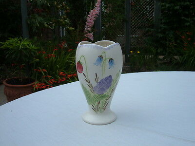 Vintage Radford Art Deco Hand Painted Spiill Vase With Floral Design No. 978 -