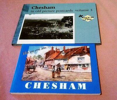 Two Great Books  On Old Postcards Of Chesham