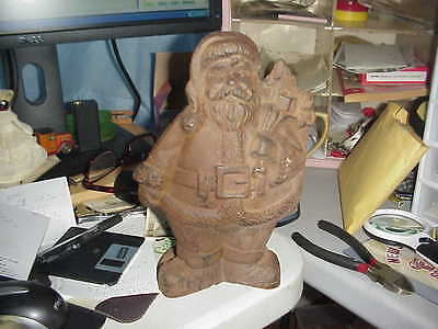 """RARE Antique Old Santa Claus St Nic Door Stop Stopper Christmas 10"""" Tall HEAVY"""
