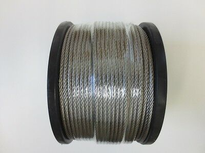 100m Marine Stainless Steel G316 3.2mm Wire Balustrade Cable Rope 7 x 7 Decking
