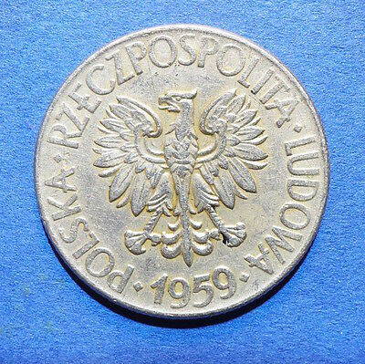 Poland 10 zloty coin. 1959. ten zt. Polska. Polish