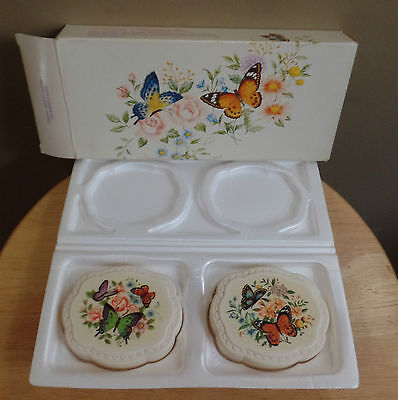 """Vintage """"BUTTERFLIES"""" 2 AVON Special Occassion Fragranced SOAP Bars~Original BOX"""