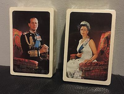 2 Packs Of Sealed Royal Playing Cards Queens Silver Jubilee 1977