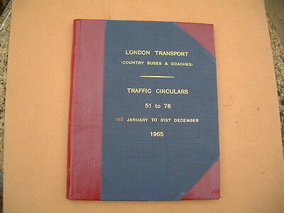 London Transport Country Buses & Coaches Traffic Circulars 1965