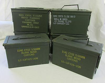 6 Pack 50 Cal Ammo Can Box  Army Military M2A1 Metal Storage 5.56