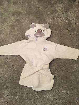 Baby's White Dressing Gown Set By Ladybird