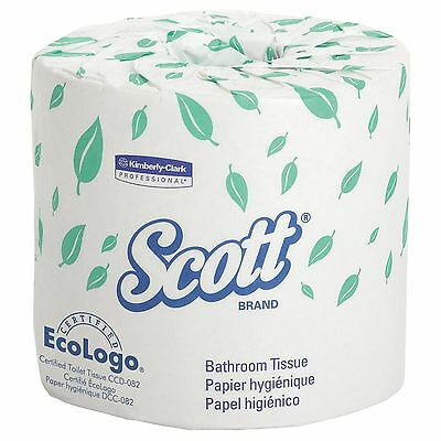 Scott Bulk Toilet Paper (13607) Individually Wrapped Standard Rolls 2-PLY Whi...