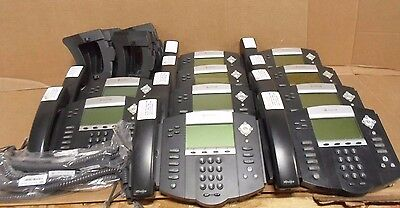 Lot of 10 Polycom SoundPoint IP560 SIP VoiP Phone 2201-12560-001 Base Handset