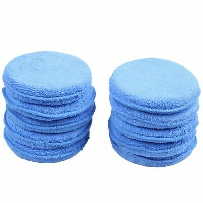 10x Car Waxing Polish Microfiber Foam Sponge Applicator Cleaning Pads G0C2