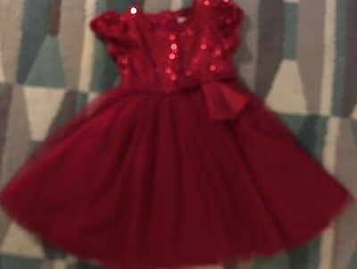 Girls Red Party Dress Size 2-3 Years