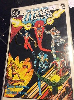 The New Teen Titans 1 1St Print Signed By George Perez Dc Comics Raven