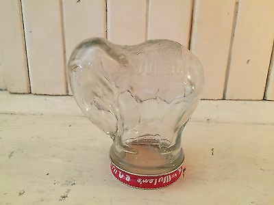 Vintage Elephant Peanut Butter Glass Jar/rare