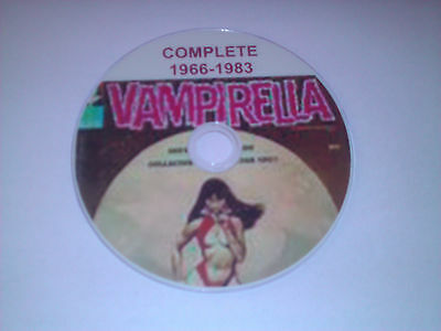 Complete Collection Of Vampirella And Annuals Comics Dvd Great Vampire Stories