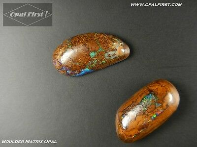 12 ct natural solid Queensland boulder matrix opal from Australia by Opal First!