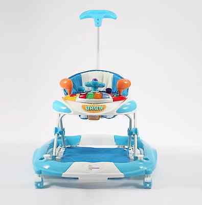 Baby Walker Rocker 4in1 Toys Musical Play Centre Gift Blue