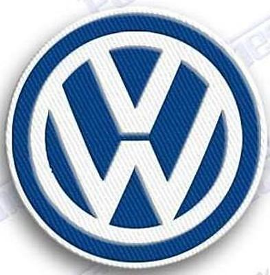 volkswagen vw  blue iron on embroidery patch auto car das auto emblem patches