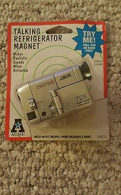 Acme Vhs Camcorder With Sound Refrigerator Magnet New In Package