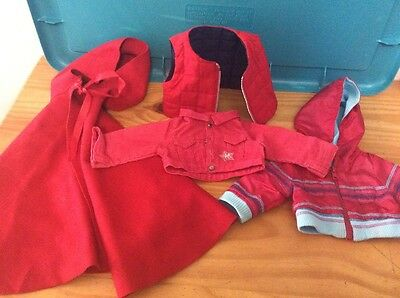 American Girl Lot 3 Red Jackets And A Red Cape Coat
