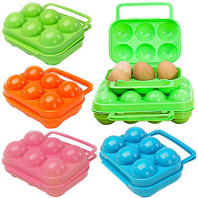 HOT MIni Picnic Camping Plastic Egg Box Carrier 6/12 Holder Container Kitchen