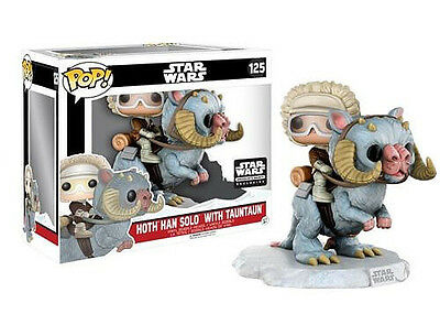 HAN SOLO On TAUNTAUN Deluxe Funko Pop #125 STAR WARS Smugglers Bounty Exclusive