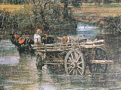 """""""The Haywain""""Landscape Victory Gold Box Plywood 1000 Piece Jigsaw*FREE POST*GIFT"""