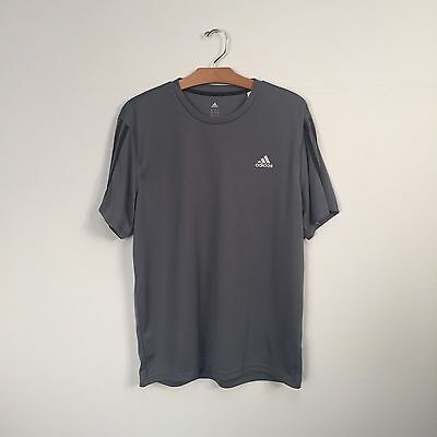 Adidas Climalite Gray Athletic T-Shirt Size Large
