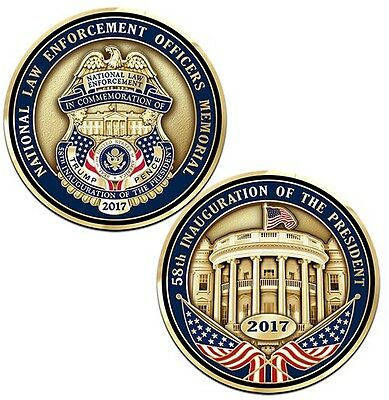 TRUMP 2017 Presidential Inauguration POLICE BADGE Challenge Coin