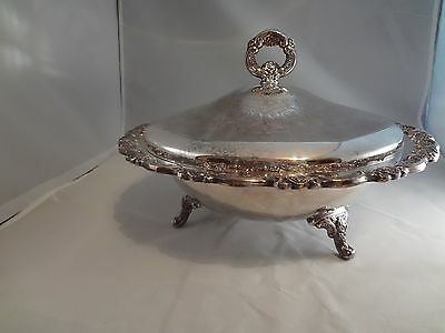 Oneida  Silver Plated  Large Covered Serving Dish