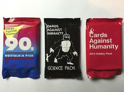 Cards Against Humanity - 90S Nostalgia + Science + Holiday Expansion Packs New