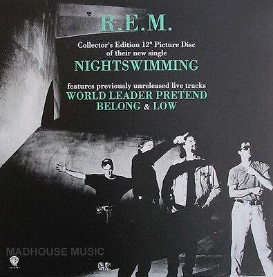 R.E.M. REM POSTER Nightswimming # 2 rare Band Picture ! PROMO ONLY Poster MINT