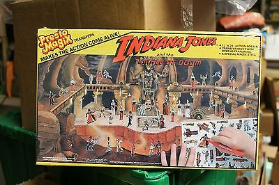 Presto Magix Indiana Jones Temple Of Doom Playset Sealed 1984