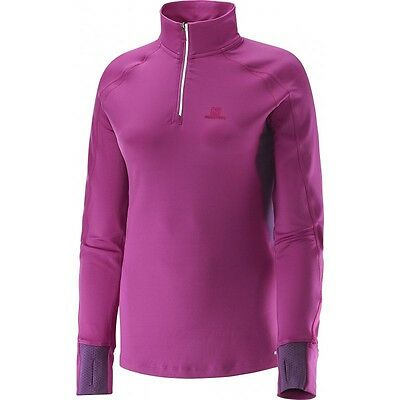 Salomon Maillot Trail Runner Warm LS Zip Lady - L37661500