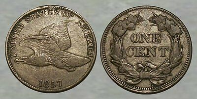 * VERY NICE !! * 1857 Flying Eagle One Cent * SHARP DETAILS !! *