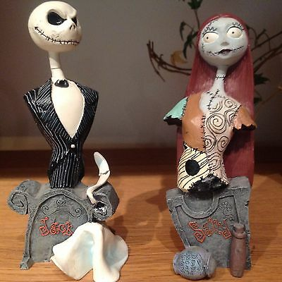 Jack and Sally Official Mini Bust Limited Ed Nightmare Before Christmas Disney