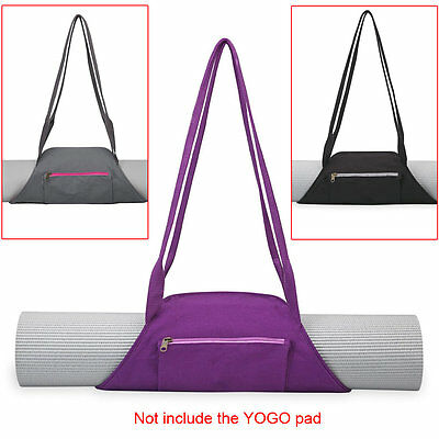 Lightweight Portable Soft Cotton Sling Yoga Mat Wrap Bag Carrier for Sport New