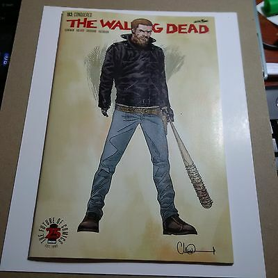 The WALKING DEAD #163 1 in  200 COLOR VARIANT NM- ( 9.2 ) Image Comics AMC