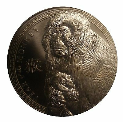 1 AVDP oz 2016 Year Of The Monkey Copper Round .999 uncirculated coin.