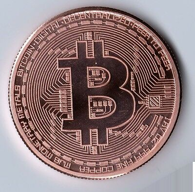 1 oz Bitcoin copper round. Uncirculated coin .999