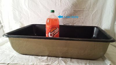 Large giant huge big cat litter box pan.  Designed for easy cleaning. Gold